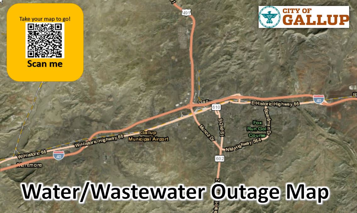 Water/Wastewater Outage Map