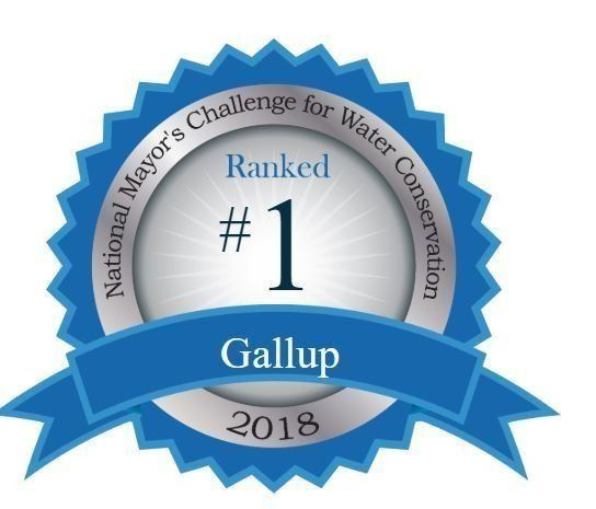 Gallup Water Conservation Rank Logo Number 1