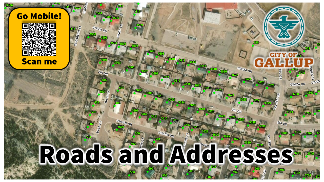 THUMB 1280x720 The City of Gallup - Roads and Addresses