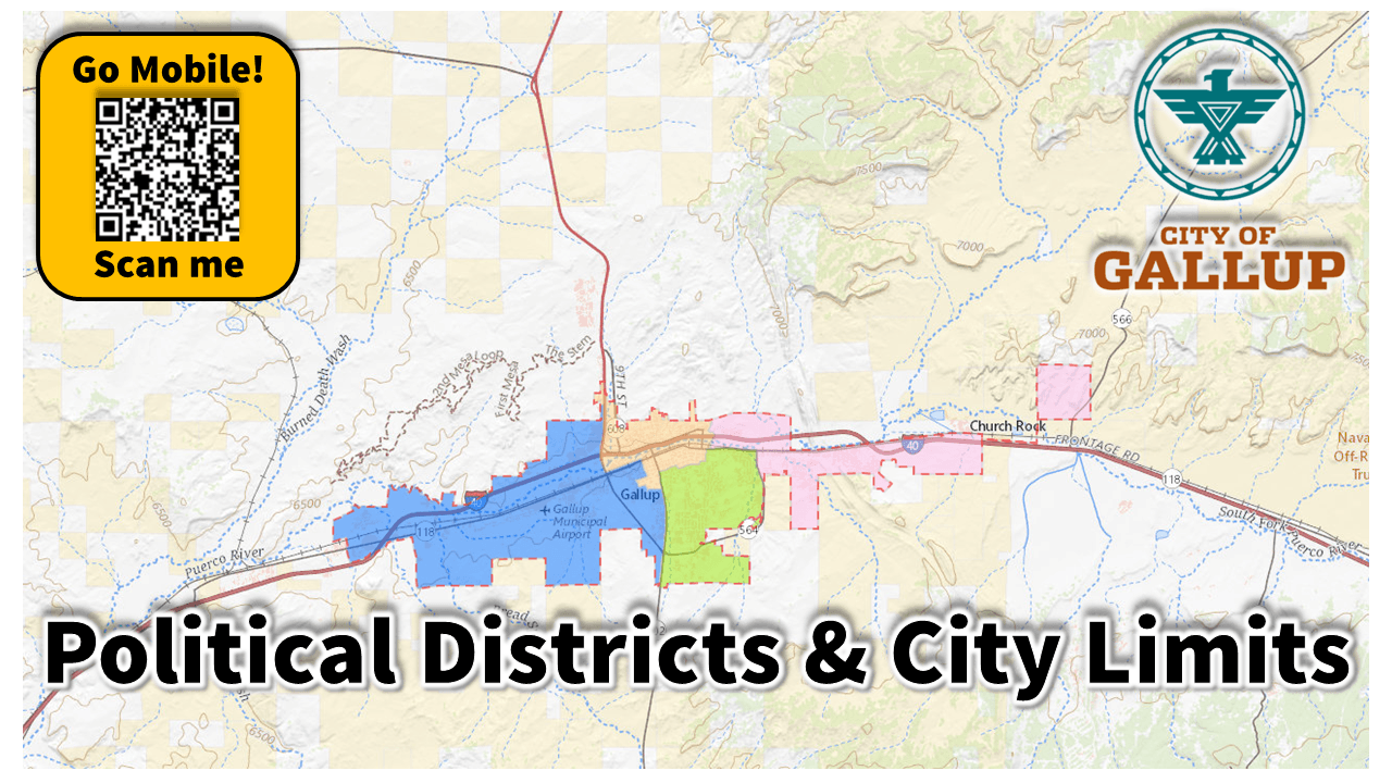 THUMB 1280X720 The City of Gallup - Political Districts and City Limits
