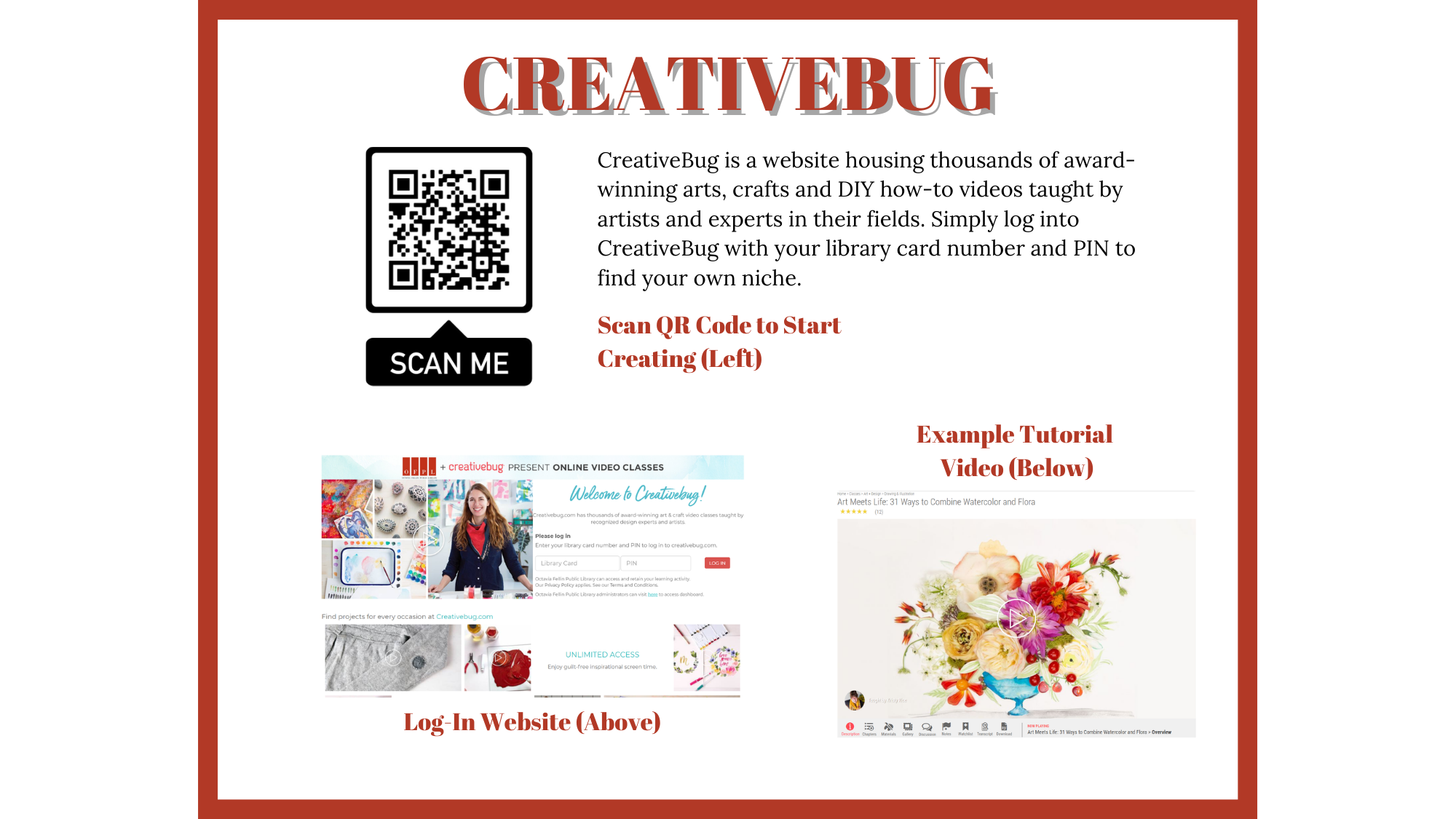 creative bug - Online Resources