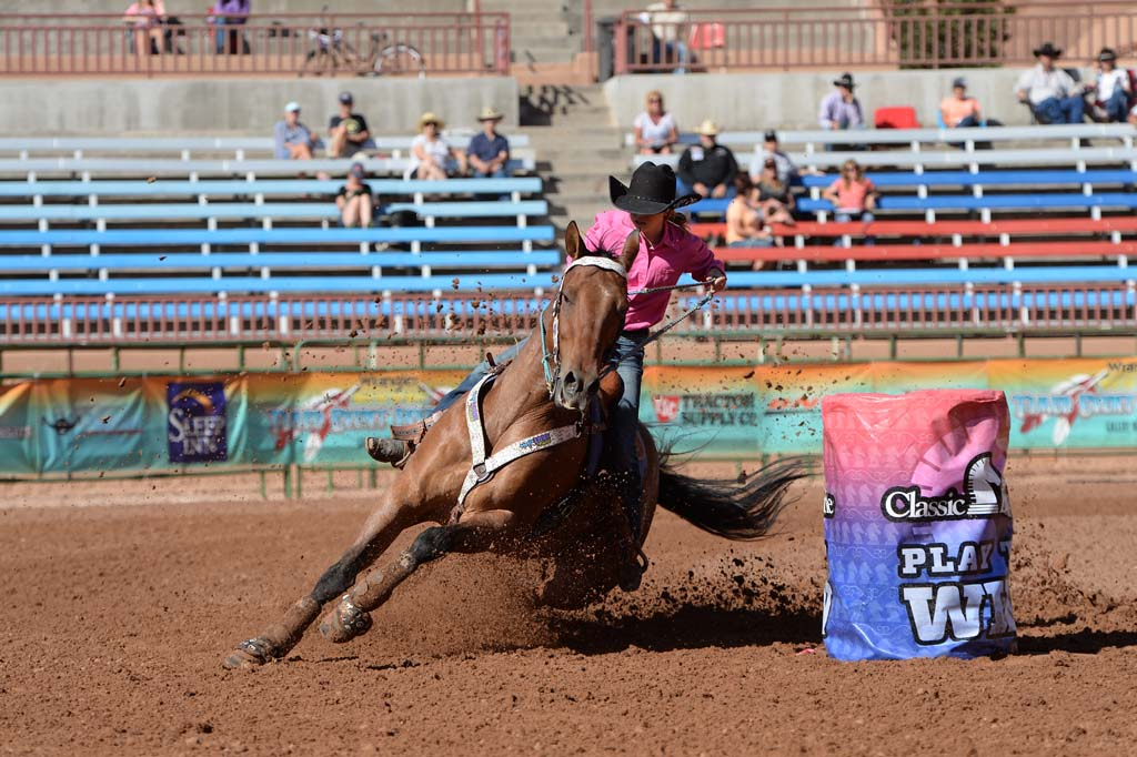 Barrel Racing Action 1st